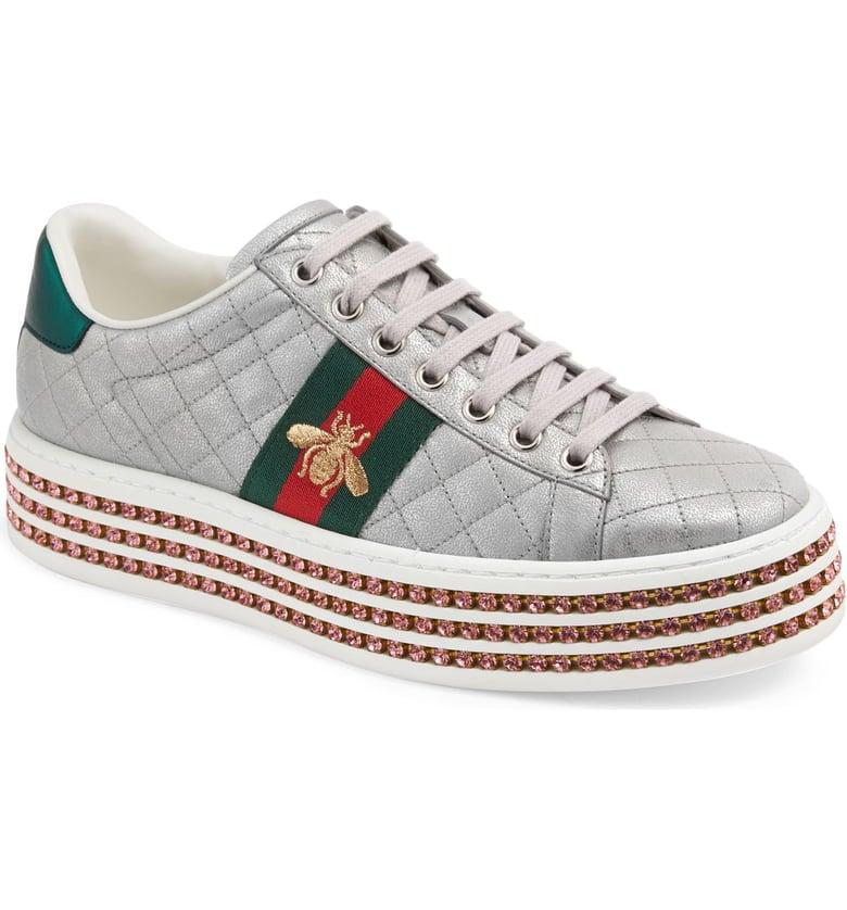 حذاء جوتشى رياضى سنيكرز إيس بلاتفورم