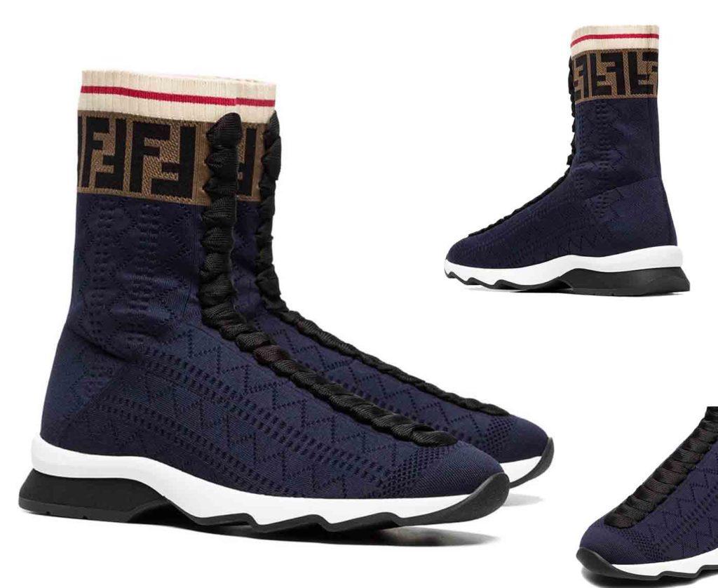 حذاء رياضي برقبة بطراز الجورب