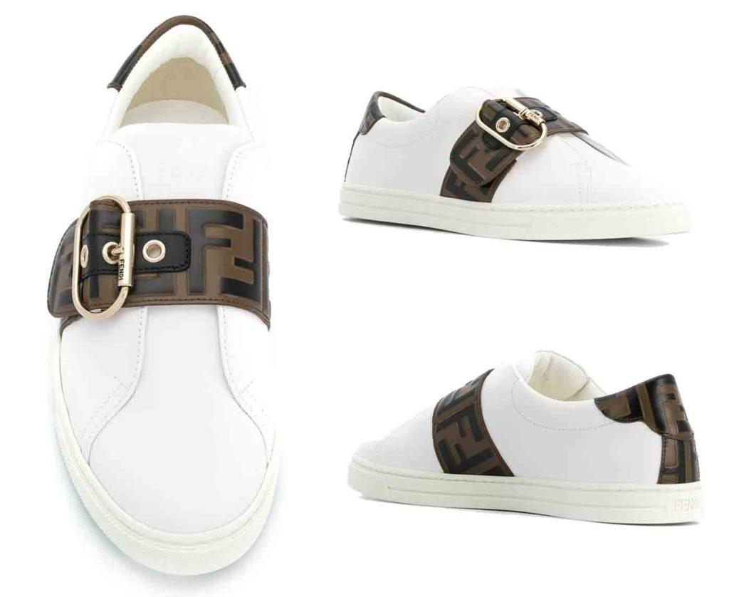 حذاء رياضي بمشبك وشعار FF