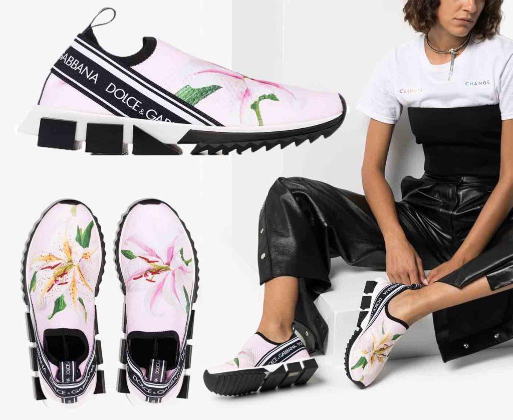 حذاء رياضي سورينتو بطبعة زهور