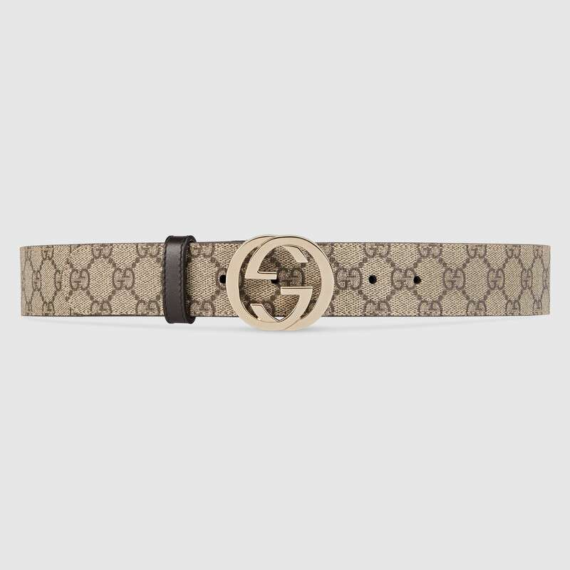 حزام جلد جوتشى سوبريم مشبك بشعار G