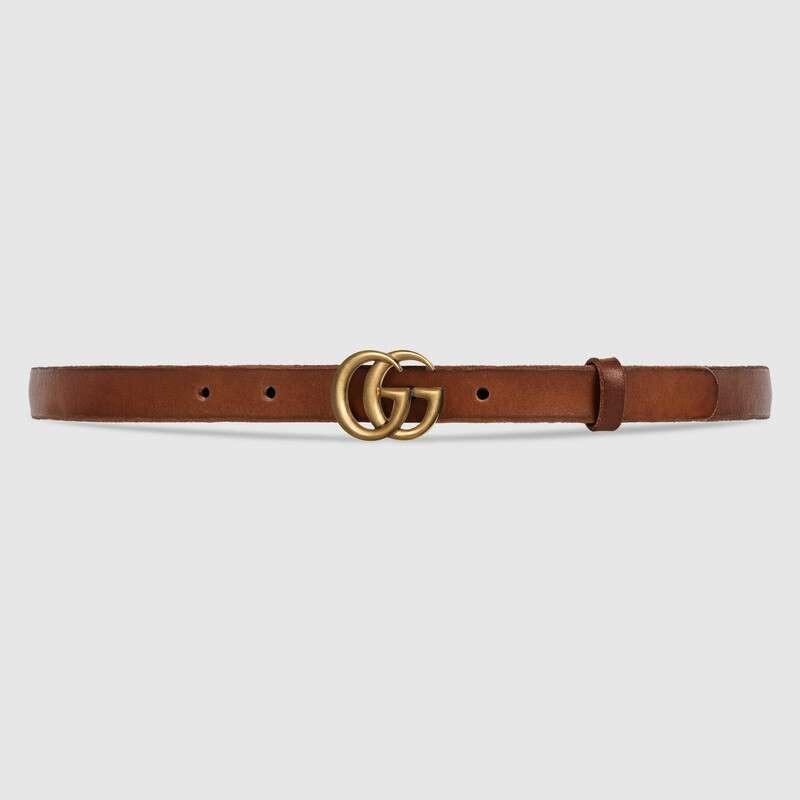 حزام جوتشى جلد مع مشبك بشعار G متكرر