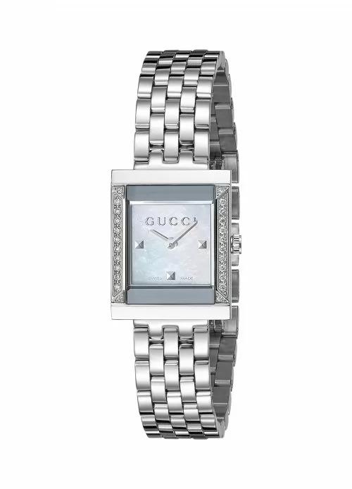 ساعة جوتشي حريمي موديل YA128405 G-Frame Timeless ستانلس-ستيل