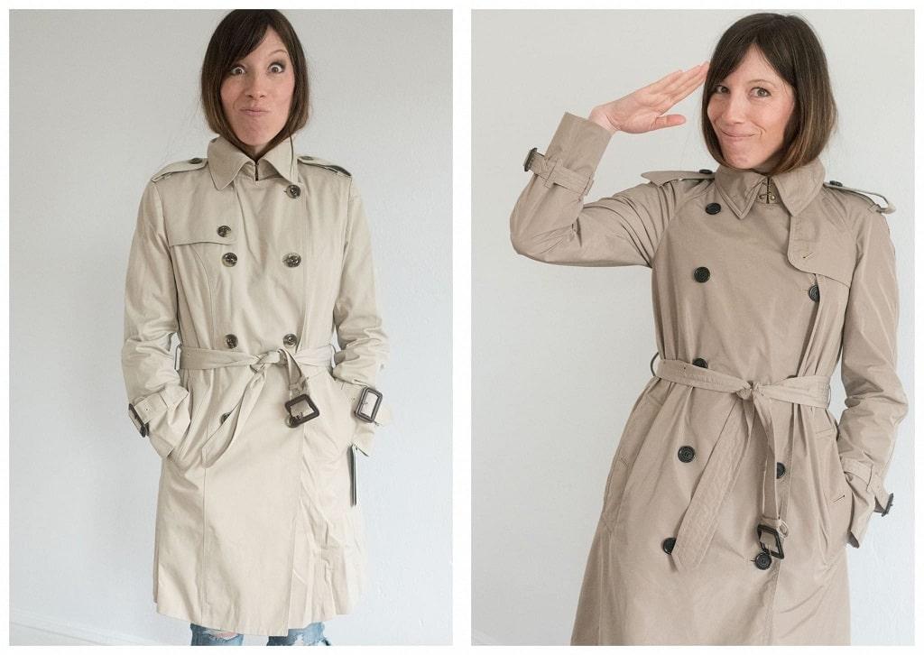 معطف الخندق التقليدى من لندن فوج
