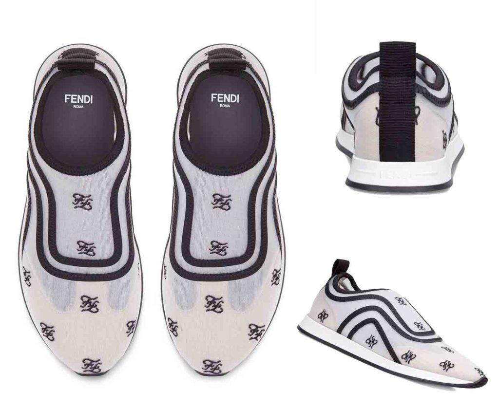 slip-on Karligraphy motif sneakers